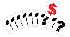 Free Qustion Mark Cards Dollar Success Stock Photos - 16972333