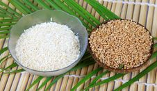 Wheat And Rice Bowls Royalty Free Stock Photos