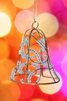 Free Christmas Bell Against Blurred Background Stock Photo - 16972650