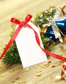 Free Blank Gift Tag Stock Image - 16972851