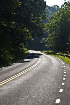 Free Beautiful Scenic Country Road Curves In Forest Royalty Free Stock Photos - 16973038