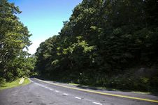 Free Beautiful Scenic Country Road Curves In Forest Stock Photo - 16973110
