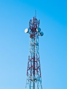 Free Mobile Phone Communication Repeater Antenna Tower Stock Photo - 16973490