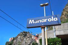 Free Manarola Railway Stock Photography - 16973612