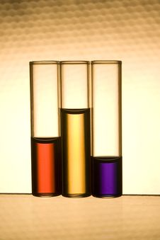 Free Vials With Multicolor Liquids Stock Images - 16974424