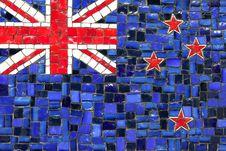 Free New Zeland Mosaic Flag Stock Photography - 16974842