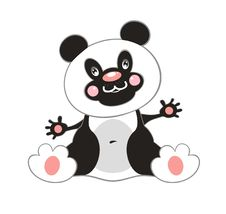 Free Panda On White Royalty Free Stock Photo - 16974865