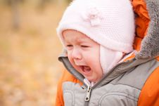 Free Disappointed Baby Stay In Park Royalty Free Stock Images - 16975169