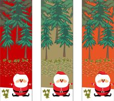 Free Christmas Trees With Santa Stock Images - 16975294
