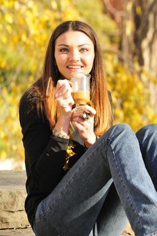 Free Woman Drinking Coffee Stock Images - 16976044