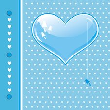 Free Card With Blue Heart Stock Photos - 16976273