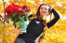 Free Woman Seasonal Portrait Stock Images - 16976754