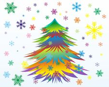 Christmas Or New Year Tree Royalty Free Stock Image