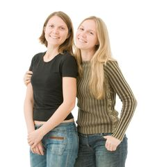 Free Two Sisters Royalty Free Stock Images - 16976979