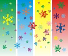 Free Vector Colorful Snowflakes Stock Image - 16977171