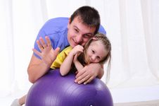 Young Father And Daughter Royalty Free Stock Photos