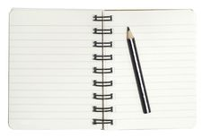 Free Mini Notebook And Pencil Stock Photos - 16977573