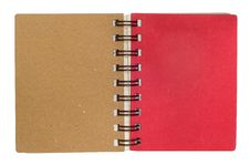 Free Mini Notebook Brown And Red Cover Royalty Free Stock Photography - 16977577