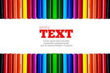 Free Color Pencils Frame With Copyspace Area Royalty Free Stock Image - 16977806