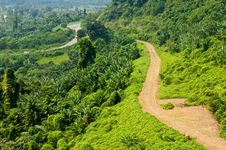 Country Road On Mountain Royalty Free Stock Photo