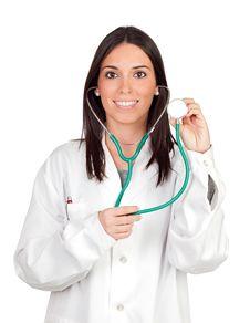 Free Attractive Brunette Doctor Stock Photo - 16978310