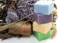 Free Dried Flowers And Colorful Soap Stock Photos - 16978763