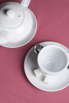 Serving Table With Tea Royalty Free Stock Photo