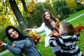 Free Family In Autumn Park Stock Images - 16981804