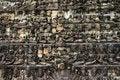 Free Detailed Khmer Angkor Wat Wall Royalty Free Stock Images - 16985299