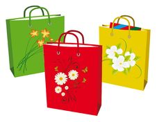 Free Collection Bags For Shopping Stock Images - 16980484
