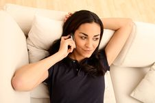 Free Brunette Girl On The Phone Royalty Free Stock Photos - 16982678