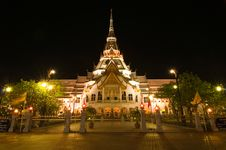Free Sothorn Temple In Night Royalty Free Stock Photo - 16984125