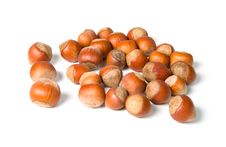 Pile Of Hazelnuts Royalty Free Stock Photography