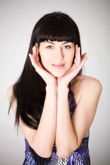 Free Beautiful Young Woman Girl Looking At Camera Stock Images - 16984944