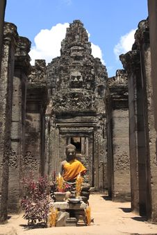 Free Bayon Temple Statue Stock Photos - 16985233