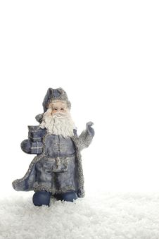 Free Santa In The Snow Stock Photography - 16985472