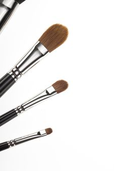 Detail Of A 4 Make-up Brushes Set. Stock Photography