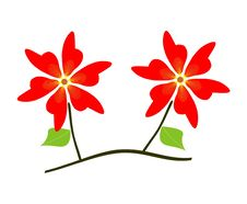 Free Branc With Red Flowers Stock Photography - 16985692