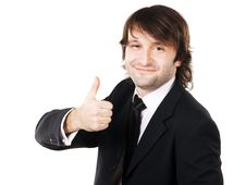Free Handsome Businessman Showing Thumbs Up Royalty Free Stock Photos - 16985708