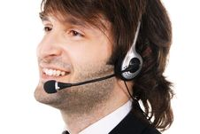 Free Young Businessman With Headset Stock Image - 16985721