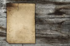 Free Vintage Paper On Old Wall Royalty Free Stock Photography - 16985737