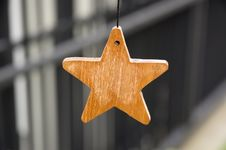 Free Wooden Star Stock Photography - 16985842