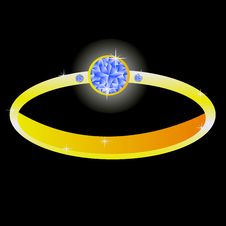 Free Gilded Ring With Diamond Stock Photos - 16985853