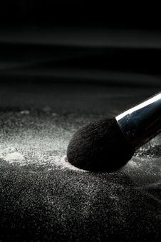 Free Detail Of A Powder Brush With White Loose Powder Royalty Free Stock Photos - 16986288