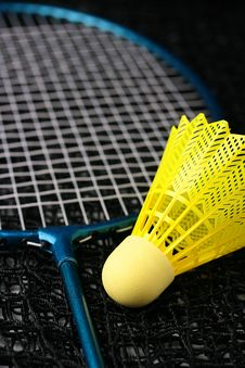 Badminton Equipment Stock Photo