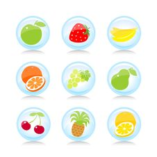Free Fruit Buttons Royalty Free Stock Image - 16986756