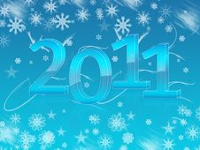 Free New Year Wallpaper For 2011 Stock Image - 16986911