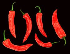 Free Cayenne On Black Background Stock Photos - 16987213