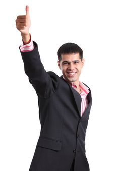 Free Мan In A Business Suit Showing Thumb Up Stock Images - 16987444