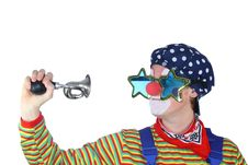 Free Clown With Bicycle Horn Stock Images - 16988034